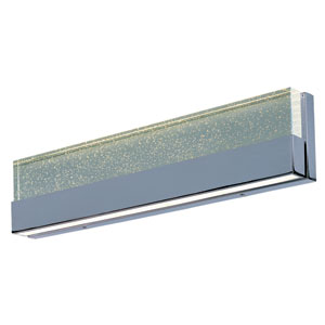 Fizz III Polished Chrome Two-Light LED 24-Inch Bath Fixture