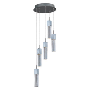 Fizz III Polished Chrome LED Five Light Single Pendant
