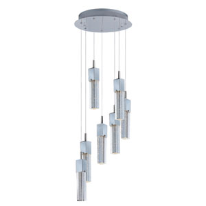 Fizz III Polished Chrome LED Seven Light Single Pendant
