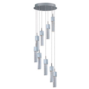 Fizz III Polished Chrome LED Nine Light Single Pendant