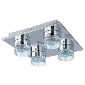 Fizz IV Polished Chrome LED Four Light Flush Mount