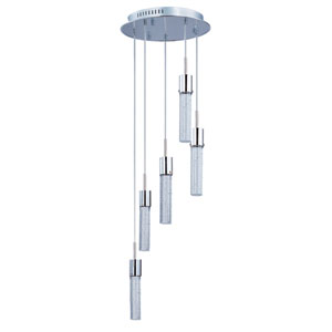 Fizz IV Polished Chrome LED Five Light Multi Light Pendant