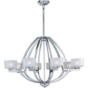 Vortex Polished Chrome Eight-Light Chandelier