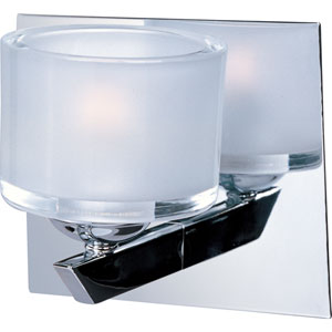 Vortex Polished Chrome One-Light Bath Vanity Fixture