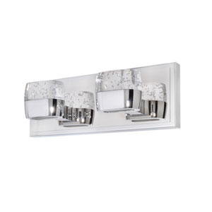 Volt Polished Chrome Four-Light LED 14-Inch Bath Fixture