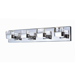 Volt Polished Chrome Eight-Light LED 27-Inch Bath Fixture
