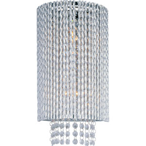 Spiral Polished Chrome One-Light Wall Sconce