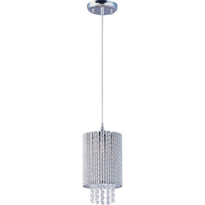 Spiral Polished Chrome One-Light Pendant