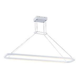 Jibe Matte White LED 45-Inch Linear Pendant