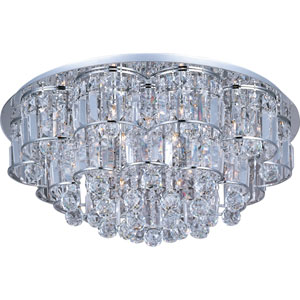 Bangle Polished Chrome Twenty-Light Flush Mount
