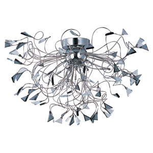 Calypso Polished Chrome Twelve-Light Flushmount