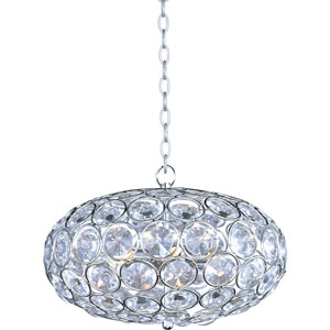 Brilliant Polished Chrome Six-Light Pendant