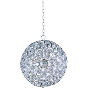 Brilliant Polished Chrome Eight-Light Pendant