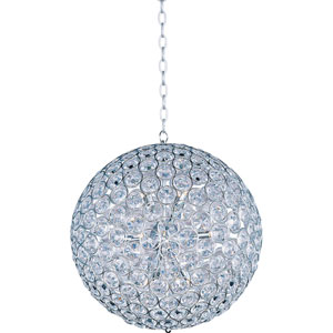 Brilliant Polished Chrome Twelve-Light Pendant