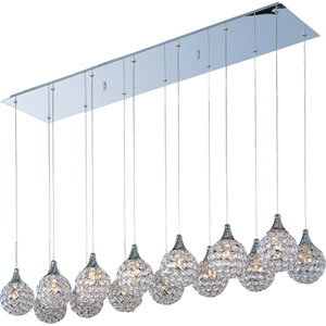 Brilliant Polished Chrome Fourteen-Light Mini Pendant