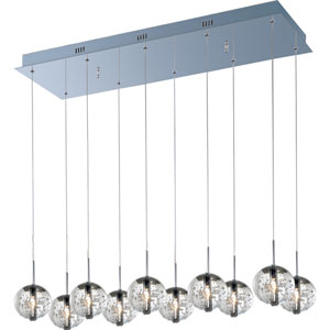 Orb Polished Chrome Ten-Light Mini Pendant