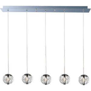 Orb Polished Chrome Five-Light Mini Pendant