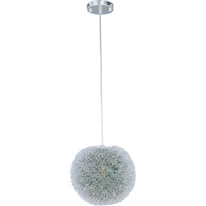 Clipp Brushed Aluminum One-Light Pendant with Green Interior