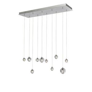 Harmony Polished Chrome Ten-Light LED 34-Inch Pendant