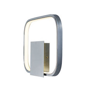 Squared Polished Chrome LED Wall Sconce