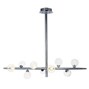 Bubbly Polished Chrome LED 46-Inch Chandelier
