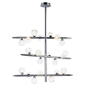 Bubbly Polished Chrome LED 38-Inch Chandelier