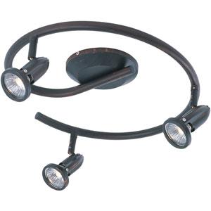 Agron Bronze Three-Light 15-Inch Flushmount