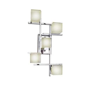 Nova Polished Chrome Five-Light LED 12-Inch Wall Sconce