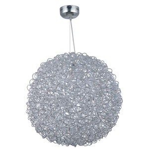 Dazed Polished Chrome 32-Inch LED Pendant