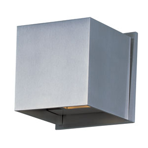 Alumilux Satin Aluminum LED Two Light Wall Sconce