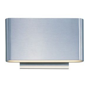 Alumilux Satin Aluminum LED Six Light Wall Sconce