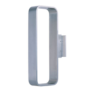 Alumilux Satin Aluminum Nine-Light LED 6-Inch Outdoor Wall Sconce