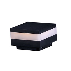 Alumilux Pathway Black Six-Inch Square LED Outdoor Pathway Light
