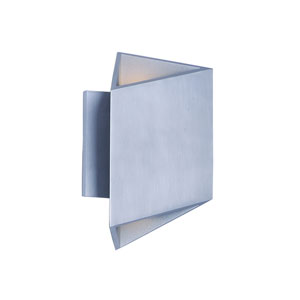 Alumilux AL Satin Aluminum Nine-Inch LED Outdoor Wall Mount