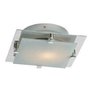 Piccolo LED Satin Nickel 6.5-Inch One Light Flush Mount
