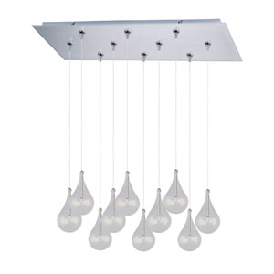 Larmes Satin Nickel Ten-Light RapidJack Pendant