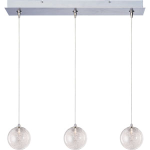Starburst Satin Nickel Three-Light 4-Inch RapidJack Pendant