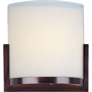 Elements Oil Rubbed Bronze One-Light Wall Sconce with Satin White Glass Shade