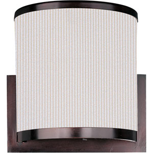 Elements Oil Rubbed Bronze Two-Light Wall Sconce with White Pleat Linen Shade