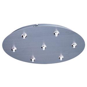 RapidJack Satin Nickel 17-Inch LED Pendant Canopy