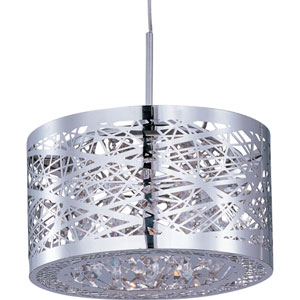 Inca Polished Chrome One-Light 7-Inch RapidJack Mini Pendant Only