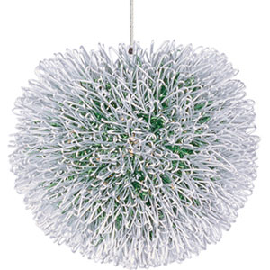 Clipp Brushed Aluminum One-Light 5-Inch RapidJack Pendant Only with Green Shade