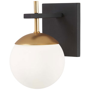 Alluria Weathered Black with Autumn Gold One-Light Bath Sconce