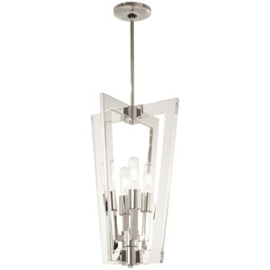 Crystal Chrome Polished Nickel 13-Inch Four-Light Pendant