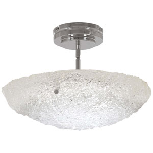 Forest Ice Chrome 16-Inch LED Convertible Pendant