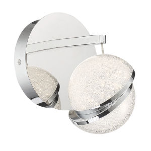 Silver Slice Chrome Seven-Inch LED Bath Vanity