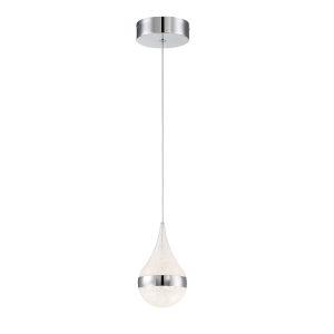 Silver Slice Chrome Five-Inch LED Mini Pendant