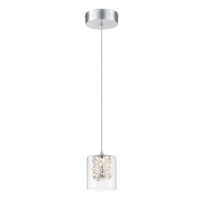 Wild Gems Chrome Five-Inch LED Mini Pendant