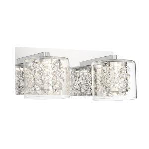 Wild Gems Chrome 11-Inch Two-Light LED Bath Vanity