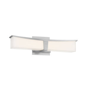 Plane Brushed Nickel 18-Inch LED Bath Bar